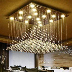 Rain drop chandeliers
