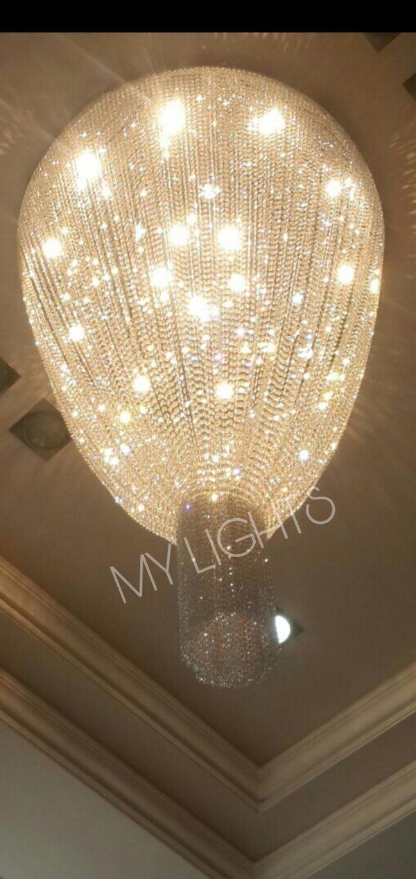 double height chandelier